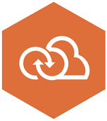 Icon of cloud and infinity symbol to demonstrate devops